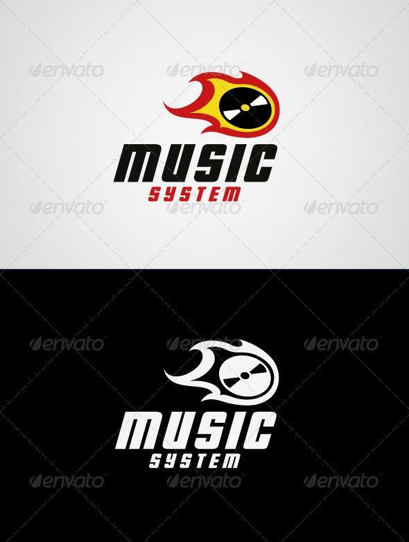 Music System Logo Template - Symbols Logo Templates