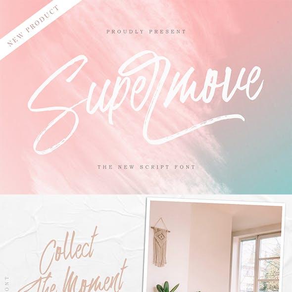 Supermove - Brush Script
