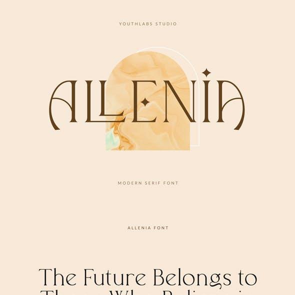 Allenia Serif - Modern Serif