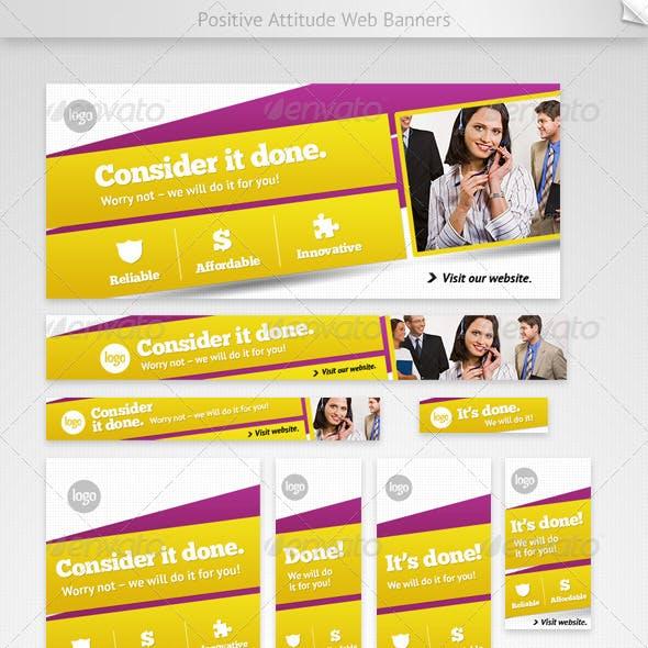 Positive Attitude Web Banners