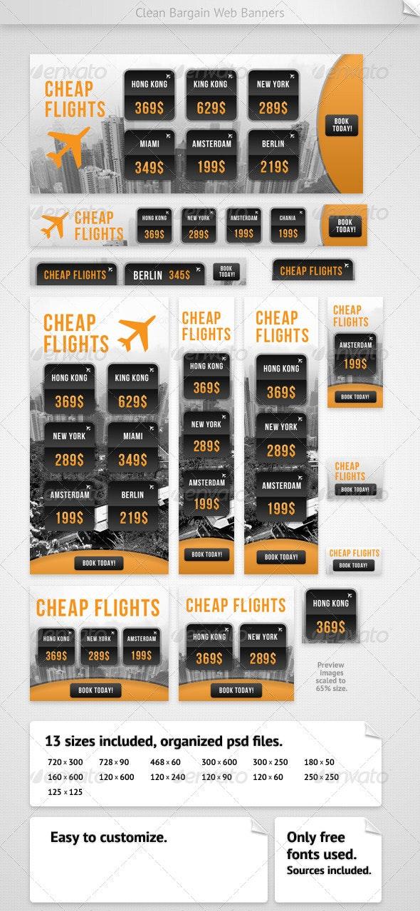 Clean Bargain Web Banners