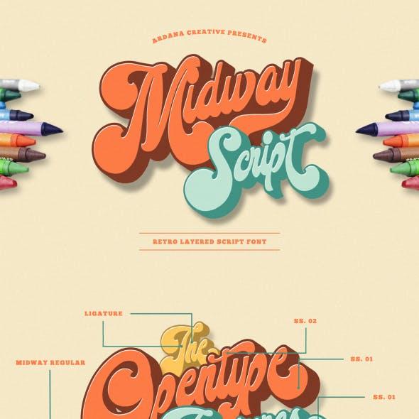 Midway - Retro Font