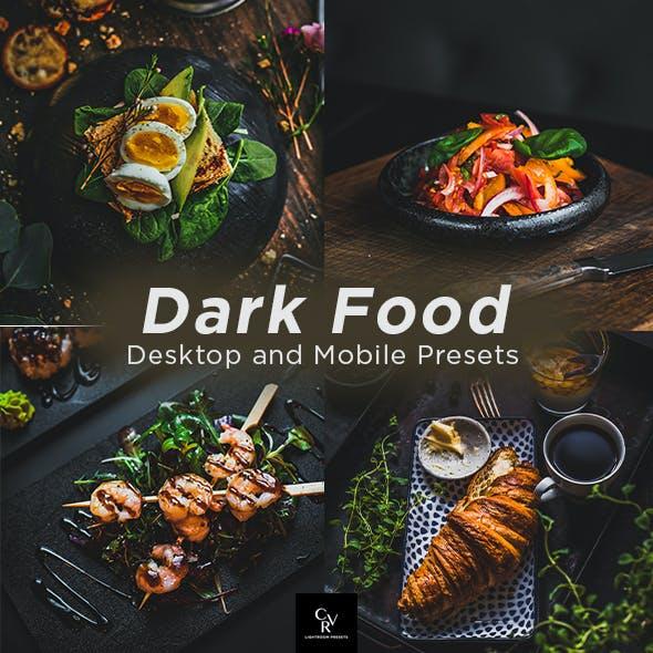 6 Dark Food Lightroom Presets