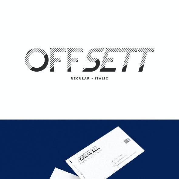 Offsett Futuristic Display Font