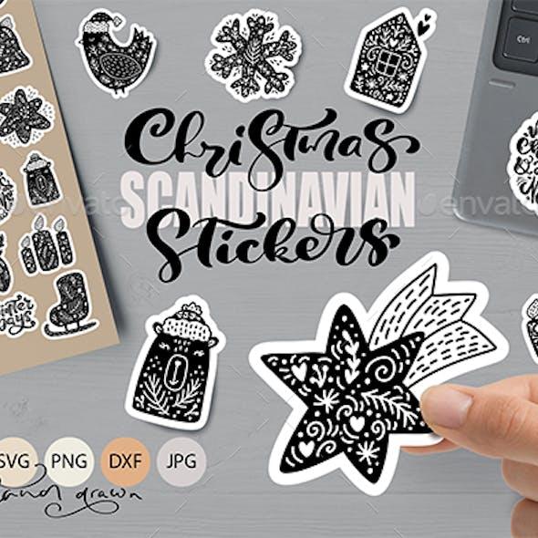 Christmas Scandinavian Stickers