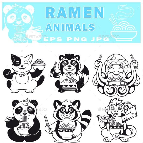 Ramen Animals