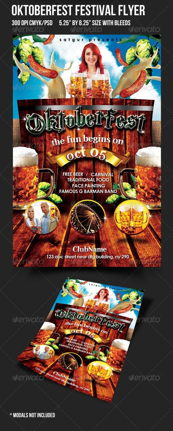 Oktoberfest Party Flyer - Holidays Events