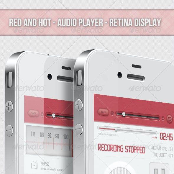 Red And Hot - Retina Audio Player Ui