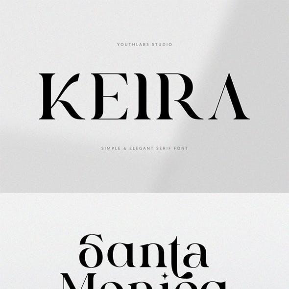 Keira Serif - Simple Font