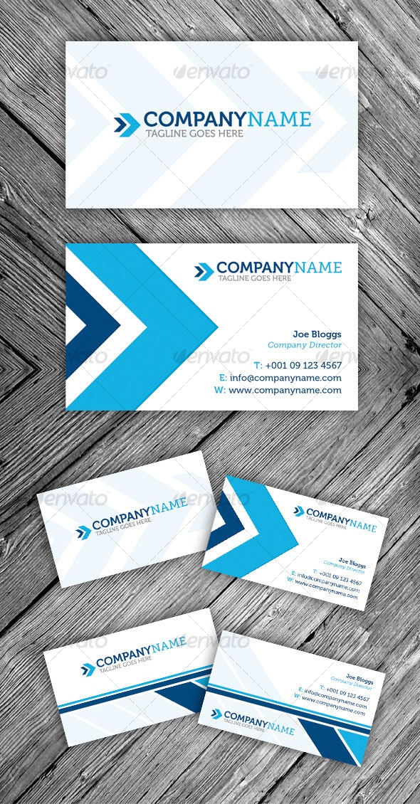 Contemporary Modern Business Card - Corporate Business Cards