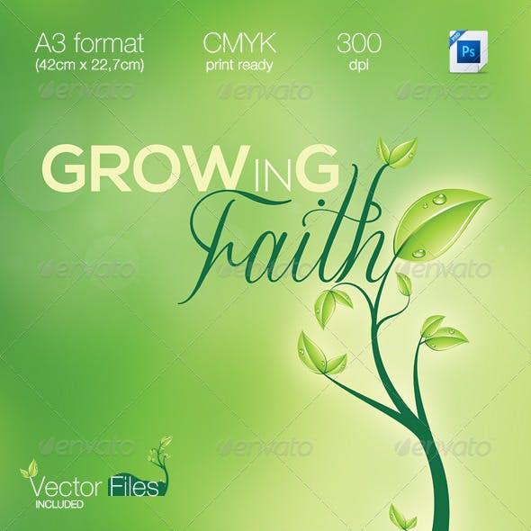 GrowINg Faith/Green | Multipurpose A3 Flyer
