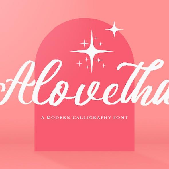 Alovetha - Brush Script Font