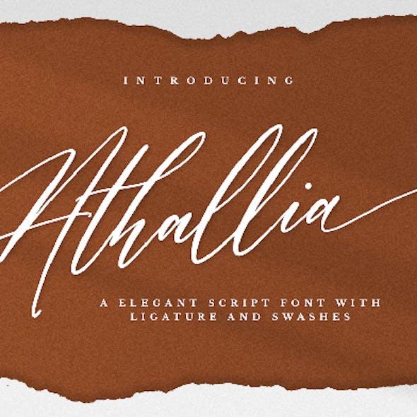 Athallia - Luxury Font