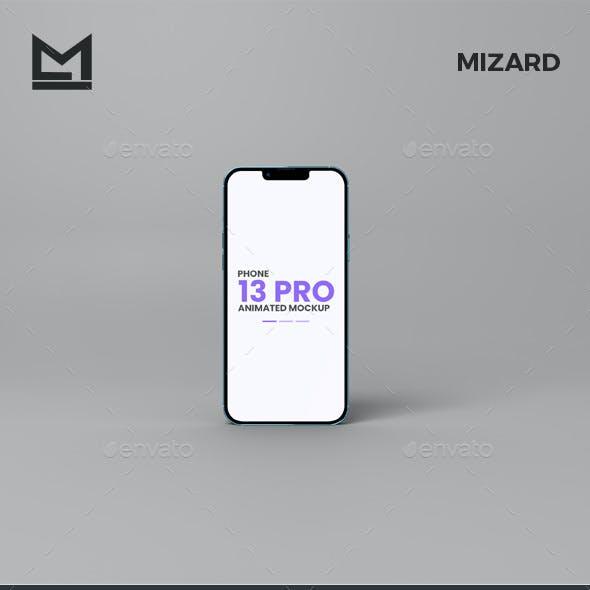 Animated iFone 13 Pro Mockup