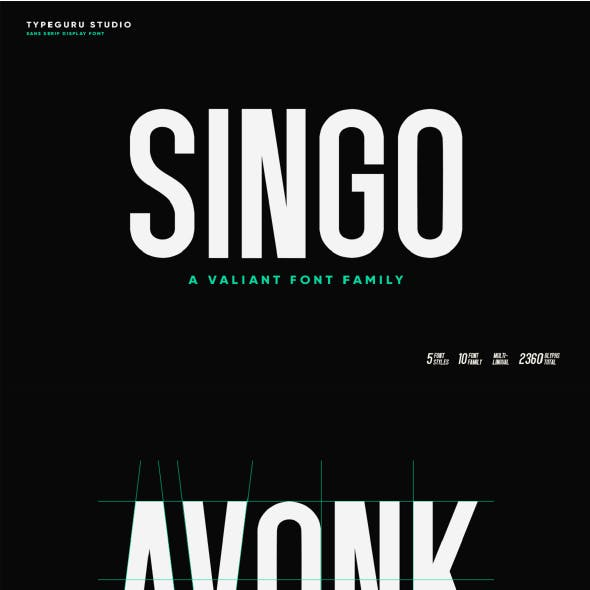 Singo Sans Display Font