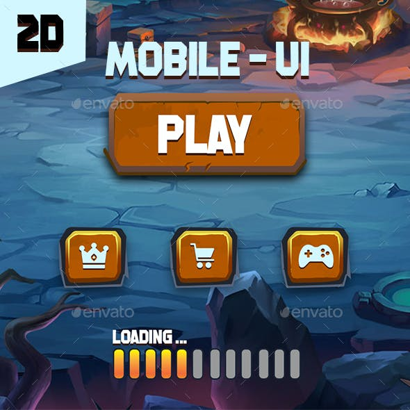 2D-Mobile GUI Game pack