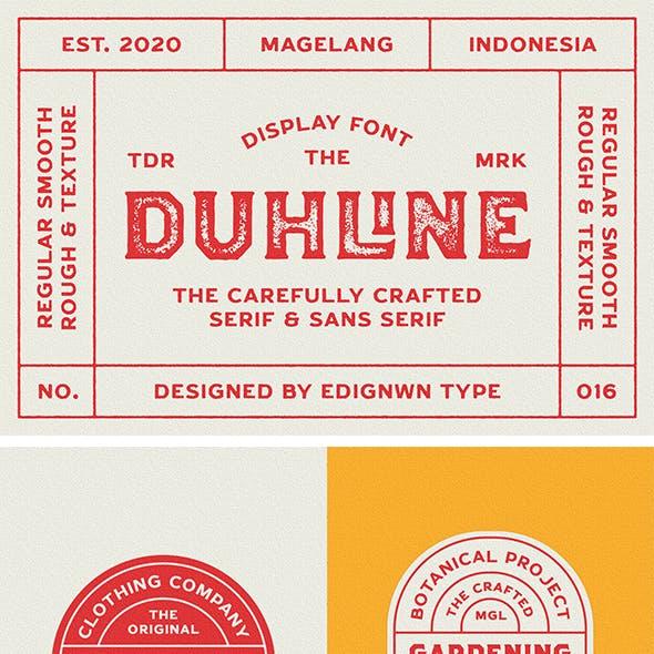Duhline - Display Font