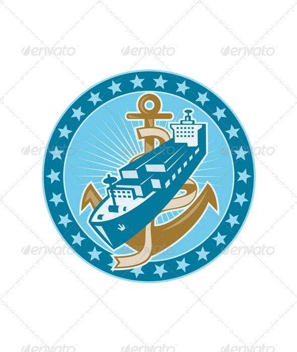 Container Ship Cargo Boat Anchor - Man-made Objects Objects