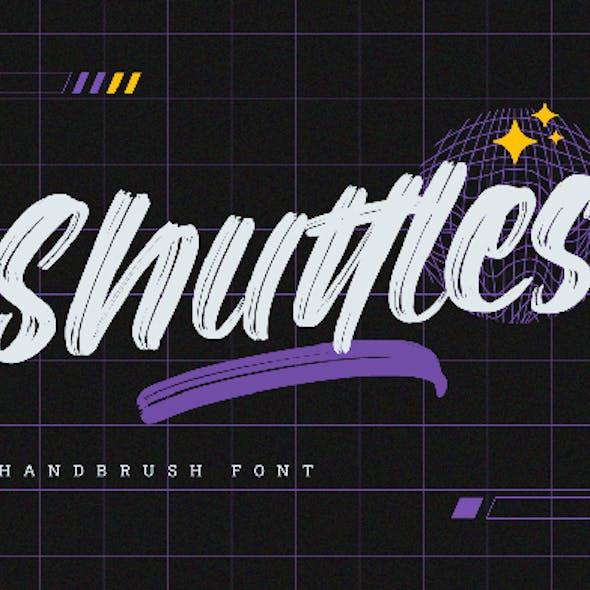 Shuttles - Brush Font