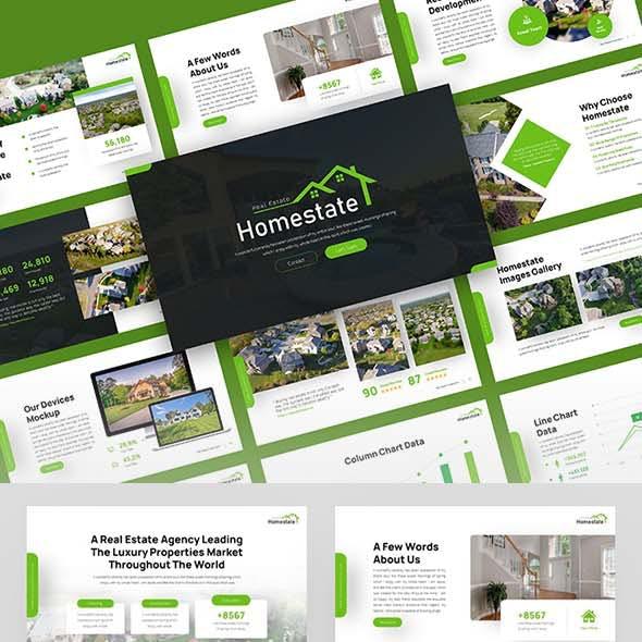 Homestate - Real Estate Google Slides Template