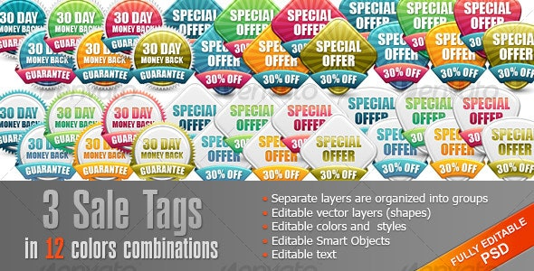Set Sale Tags, Badges - Web Elements