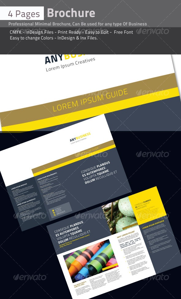 4 Pages Professional Brochure - Corporate Brochures