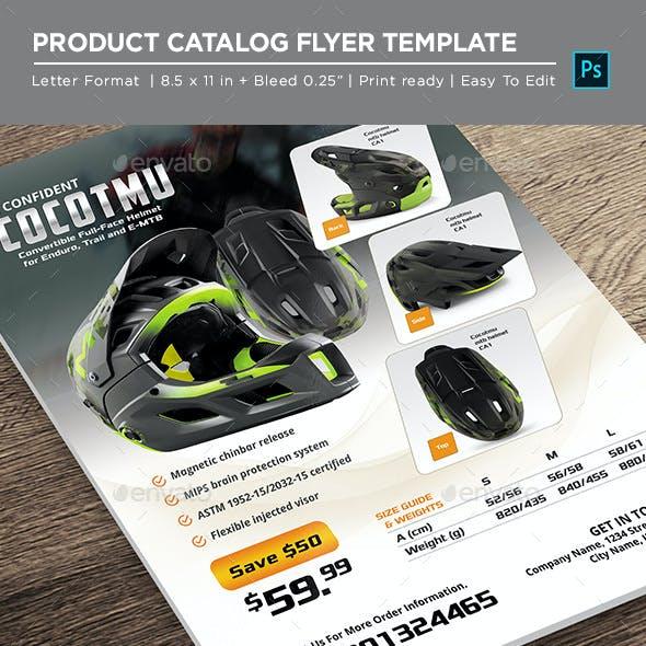 Helmet Product - Catalog Product Flyer