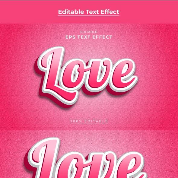 Love Editable 3d Text effect