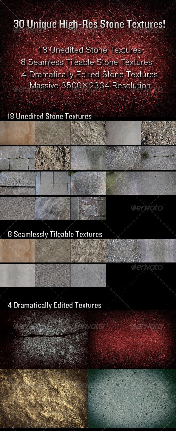 30 High-Resolution Stone Textures - Stone Textures