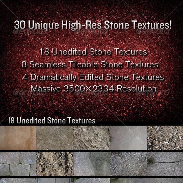 30 High-Resolution Stone Textures