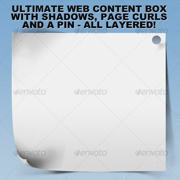 Ultimate Web Content Box w/Shadows and Curls