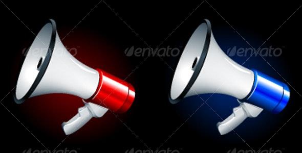 megaphones - Objects Vectors