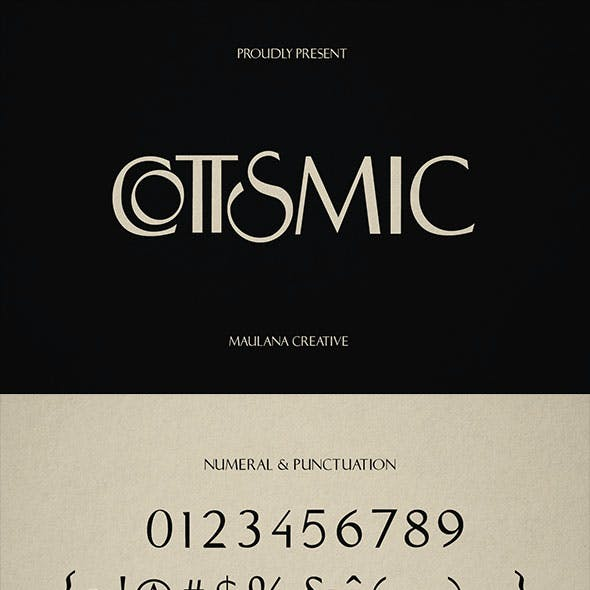 Cottsmic Sans Serif Font