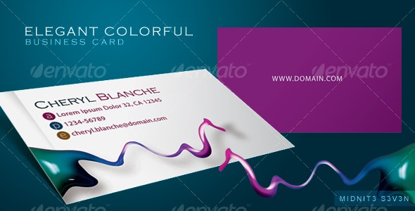 Elegant Colorful Business Card - Creative Business Cards