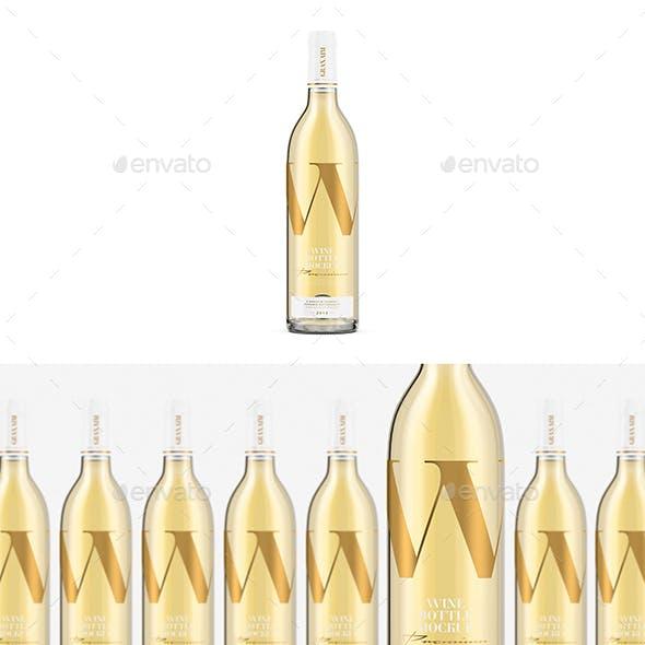 White Wine - Bottle Mockup