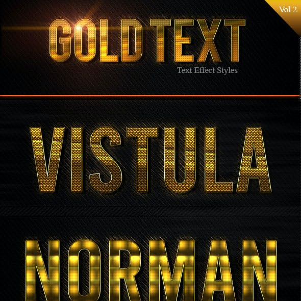 Gold Text Effect Styles Vol 2