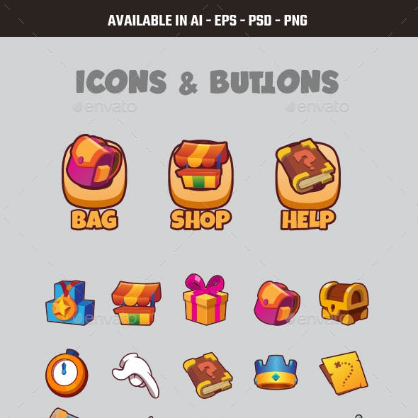 Game Icons and Buttons