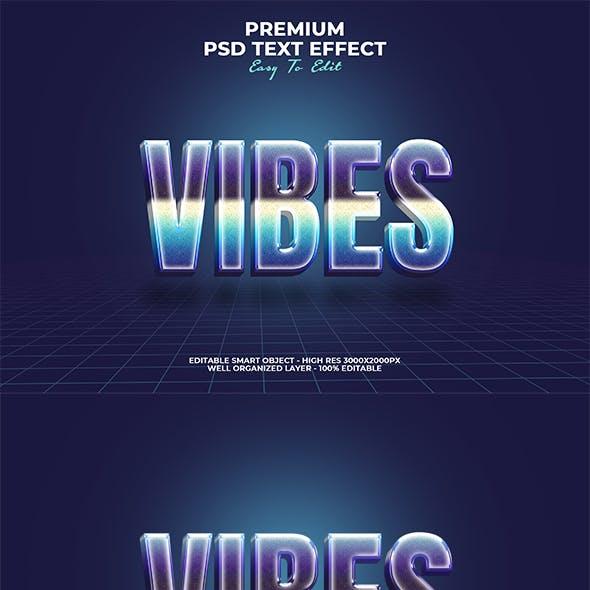 Vibes Retro 80s Text Effect
