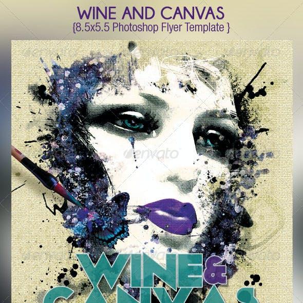 Wine Canvas Art Event Flyer Template
