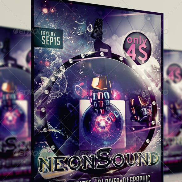 Neon Sound Flyer