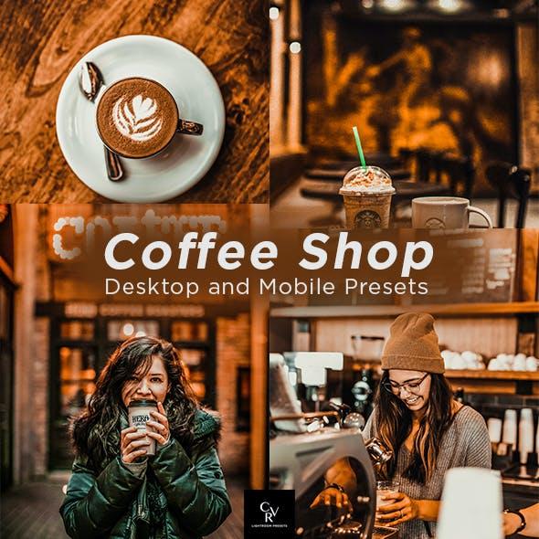 6 Coffee Shop Lightroom Presets