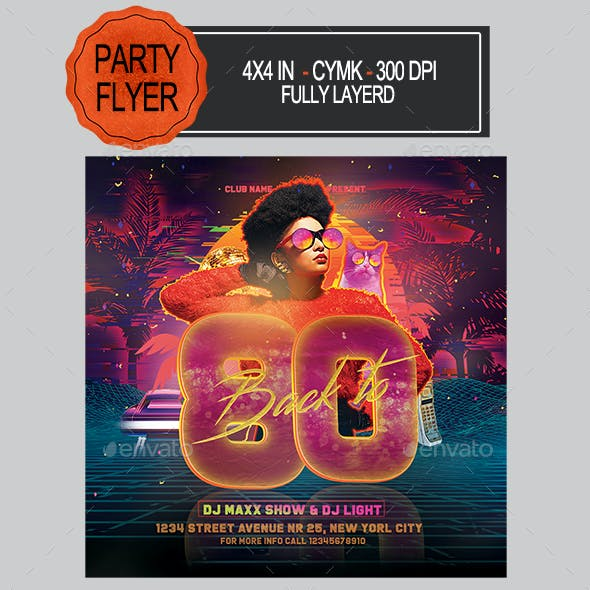 80s Party Flyer