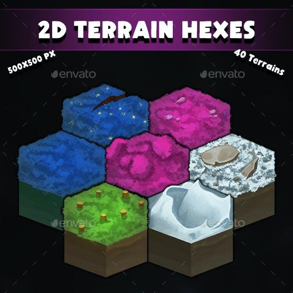 2D Terrain Hexes