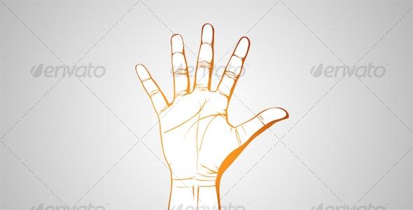 Open Hand - Decorative Symbols Decorative