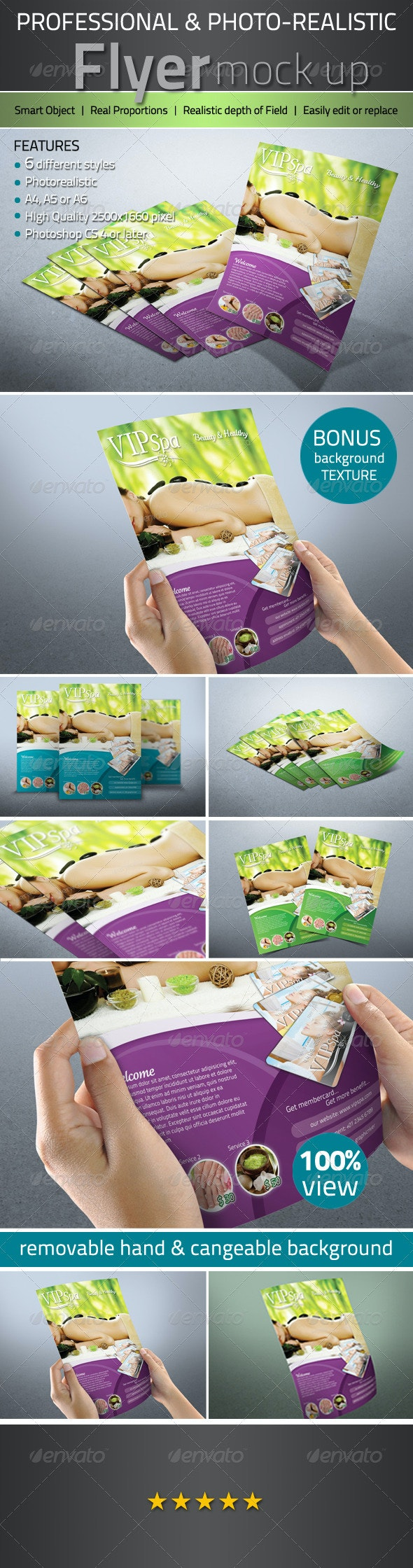 Professional Photorealistic Flyer mock up - Flyers Print