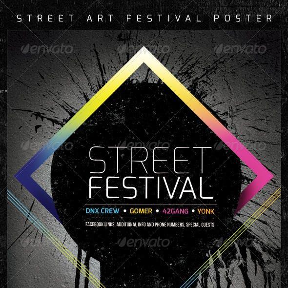 Street Art Graffiti Festival Creative Poster