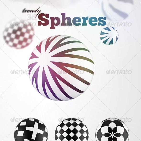8 Futuristic 3D Spheres