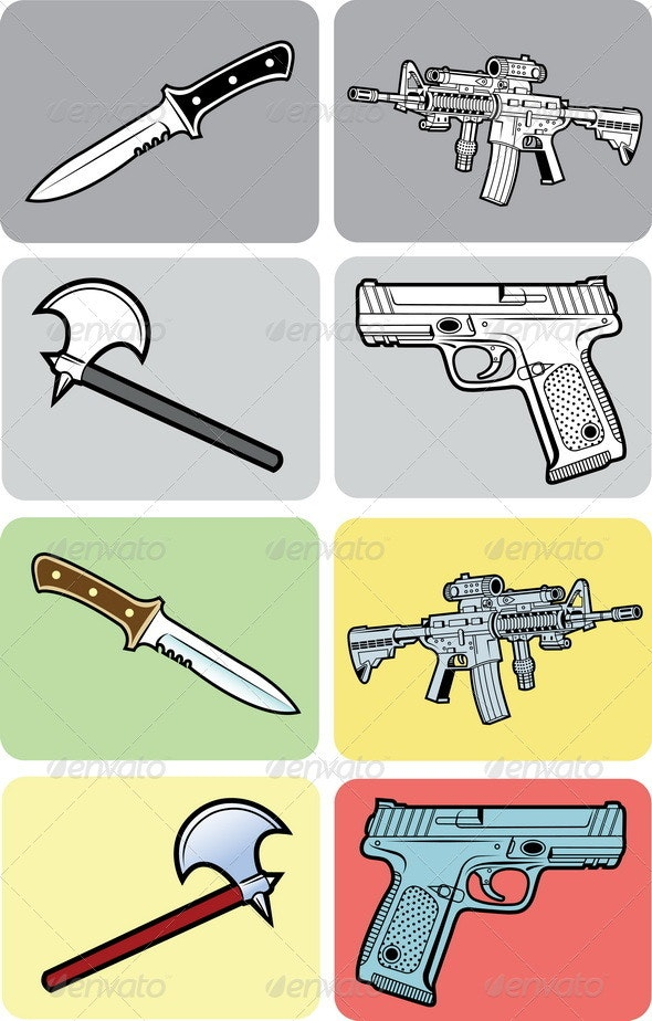 Weapon Vector - Man-made Objects Objects