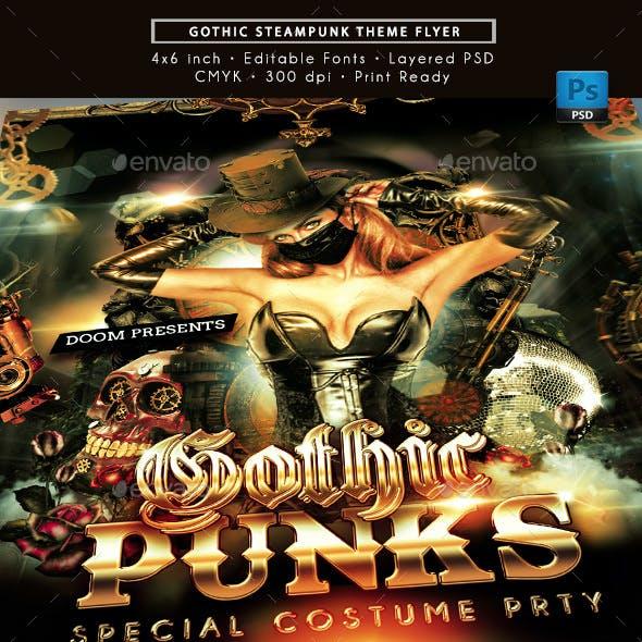 Gothic Steampunk Party Flyer