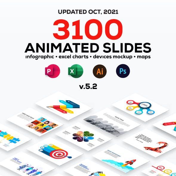 Multipurpose Infographics PowerPoint Templates v.5.2